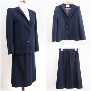 Vintage Gerard for Renlyn 2 Pc Navy Suit Set Flaw